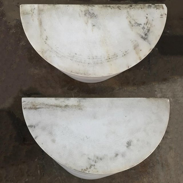 Pair Antique Solid Marble Half-Columns ~ Pedestals For Sale - Image 9 of 13