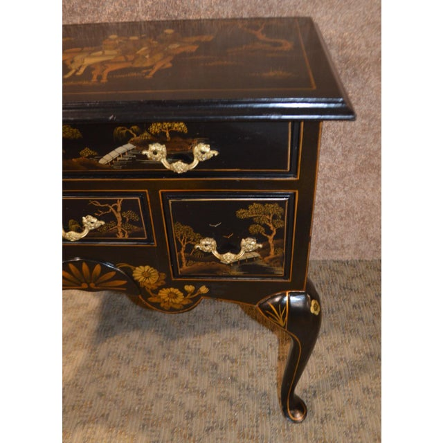 Vintage Hand Painted Chinoiserie Lowboy - Image 3 of 11