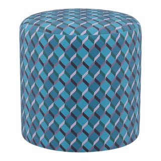 Drum Ottoman in Geo For Sale
