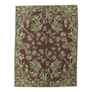 French Aubusson Design Hand Woven Wool Rug - 8' X 10' For Sale