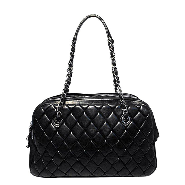 472673d0334e Chanel Black Quilted Medium Shopper Tote Shoulder Bag | Chairish