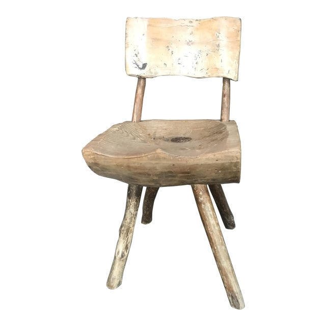 1800's Vintage Rustic Handmade Log Chair For Sale
