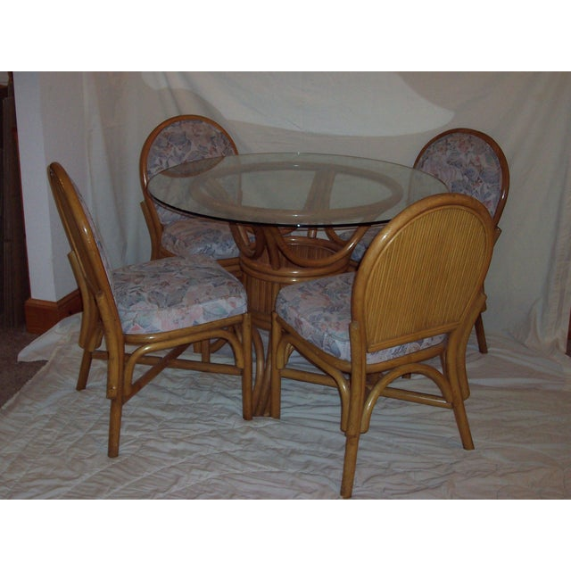 Vintage Mid-Century Bentwood Bamboo Dining Set - Image 5 of 5