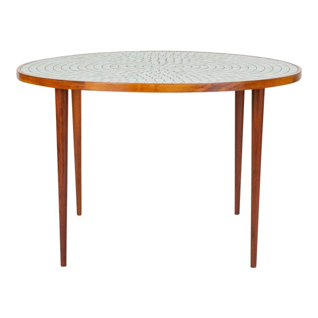Tile-Top Walnut Dining Table by Gordon & Jane Martz for Marshall Studios For Sale