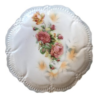 Vintage German Rose Decorative Plate