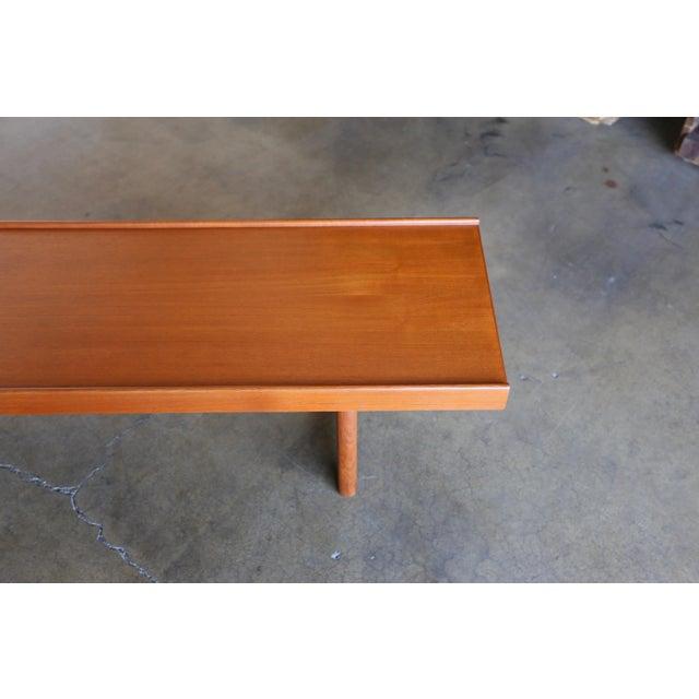 """Mid 20th Century Teak """"Krobo'' Bench by Torbjørn Afdal for Bruksbo For Sale - Image 5 of 11"""