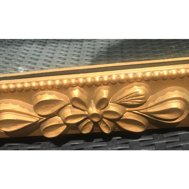 Mid Century Modern Gilded Ornate Wall Mirror For Sale - Image 4 of 4