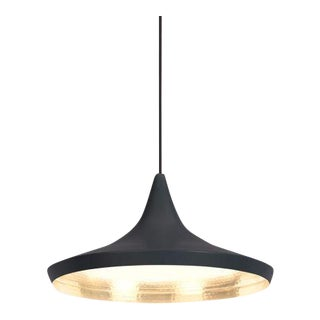 Tom Dixon Beat Wide Black Pendant For Sale