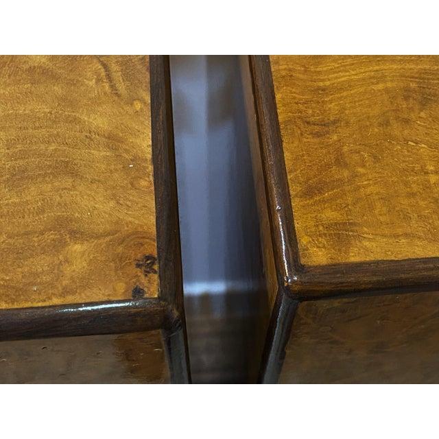 Drexel Heritage Vintage Drexel Heritage Pedestals Burlwood Restored - a Pair For Sale - Image 4 of 11