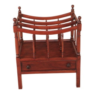 English Mahogany Magazine Stand