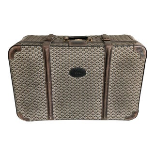 1960s Maison Goyard Suitcase Luggage For Sale