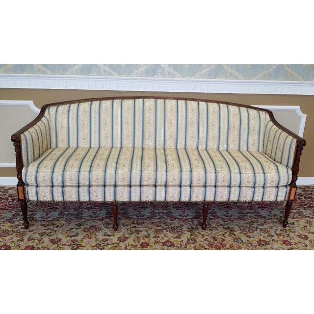 Traditional Fantastic Hickory Chair Company James River Collection Sheraton Mahogany Sofa For Sale - Image 3 of 10