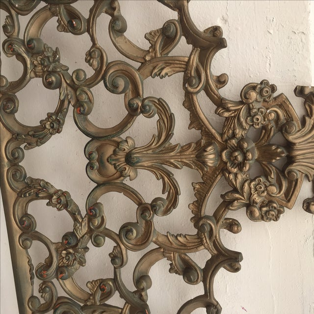 Baroque-Style Metal King Headboard - Image 5 of 6