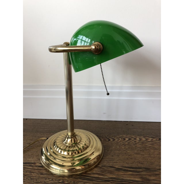 1950s Green Bankers Lamp For Sale - Image 5 of 5