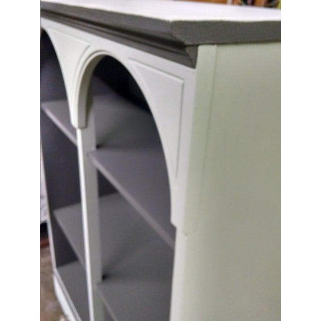 Vintage Grey & Pale Green Bookcase - Image 3 of 5