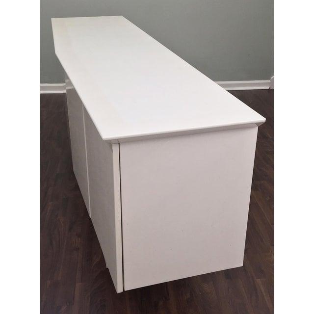 Modern Ello Art Deco White Pearlescent Console Cabinet Credenza - Image 10 of 10