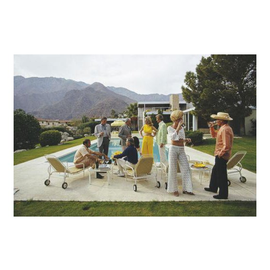 Slim Aarons Slim Aarons New Desert House Party Photograph Print For Sale - Image 4 of 4