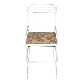 Early 20th Century Vintage Simple Metal Patio Chair For Sale