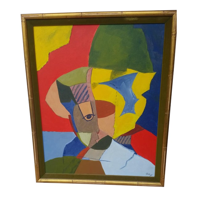 Vintage Abstract Painting From the 1960s - Image 1 of 8