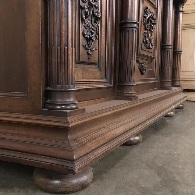 19th Century French Walnut Henri II Buffet For Sale - Image 9 of 13
