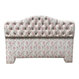 Modern Custom King Size Tufted Headboard For Sale