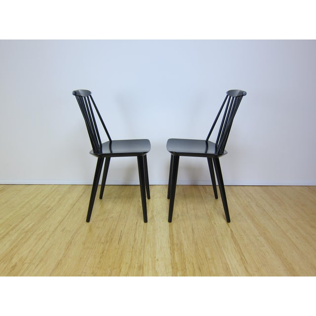 1968 Folke Palsson Black J77 Chairs for Fdb Mobler - a Pair For Sale In New York - Image 6 of 10
