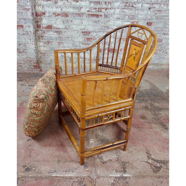 """Brighton Pavilion Chinoiserie Chippendale Bamboo Armchairs-a Pair circa 1920s. size 22 x 22 x 34"""" seat height 23"""""""