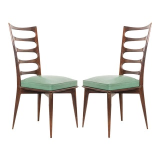 Vintage Gaston Poisson Dining Chairs- A Pair For Sale