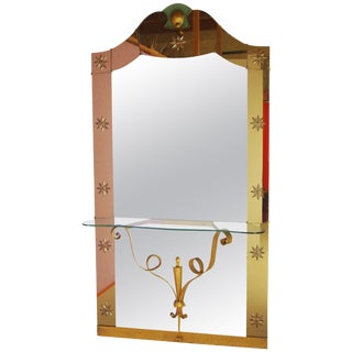 Italian Mirror With Console by Pier Luigi Colli For Sale