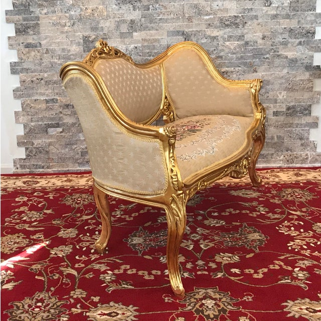 Modern Louis XV Love Seat For Sale - Image 4 of 7