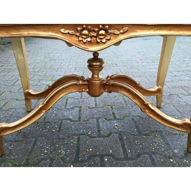 Bed Bench in Louis XVI Style with Gold Leaf - Image 3 of 6