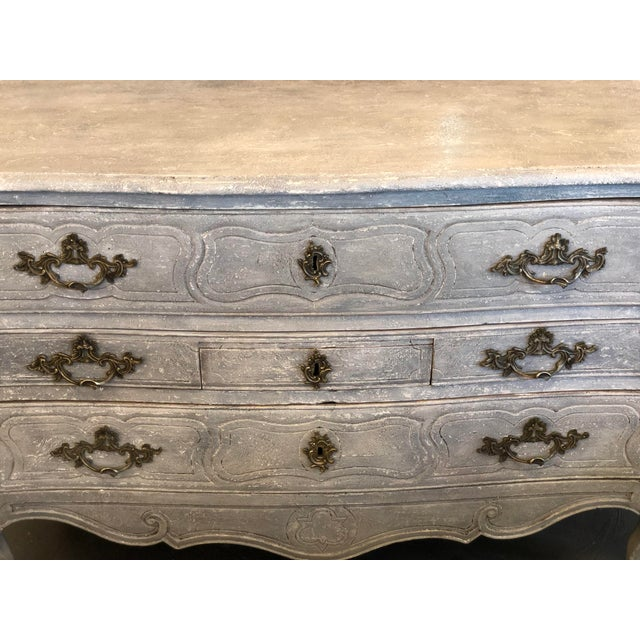 Shabby Chic 18th. C. French Louis XV Polychromed Commode For Sale - Image 3 of 13