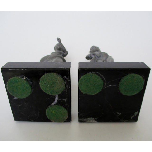 Black Marble English Pewter Figurines - Set of 2 For Sale - Image 7 of 8