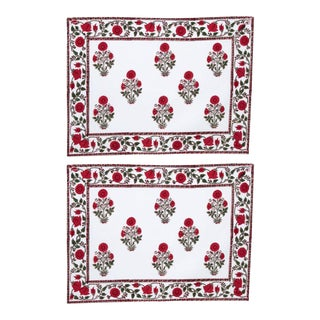 Amaya Red Placemats - a Pair For Sale