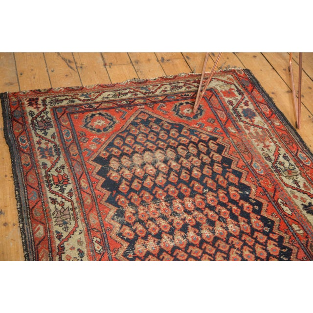 "Blue Antique Hamadan Rug - 4' x 6'3"" For Sale - Image 8 of 11"