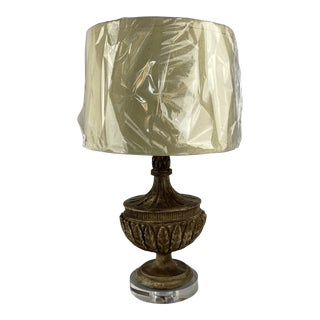 French Lamp With LInen Shade For Sale