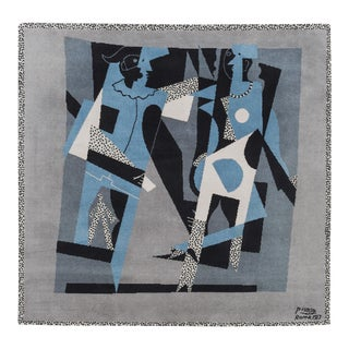 "Pablo Picasso Tapestry / Rug ""Harlequin and Woman With Necklace"", 1917 / 1994 For Sale"