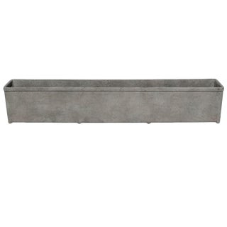 Modern Light Weight Cast Composite Resin Trough in French Grey For Sale