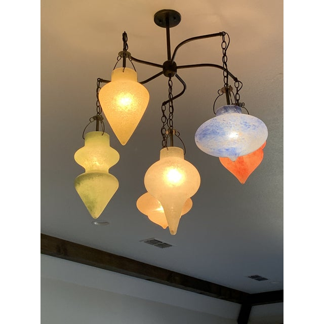 Pair of Murano Glass Chandelier CX Designs Scavo Collection For Sale - Image 4 of 9