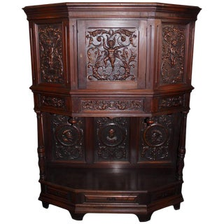 Antique Renaissance Style Cabinet For Sale