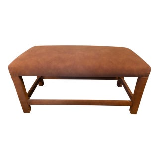 Vintage Mid Century Milo Baughman Style Bench For Sale