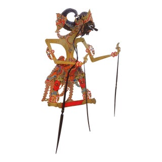 Indonesian Shadow Puppet, Wayang Kulit, Dursasana For Sale