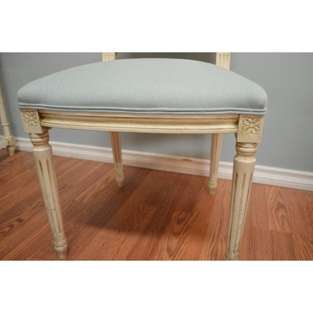 Louis XVI Style Square Back Dining Chairs Available for Custom Order For Sale - Image 4 of 8