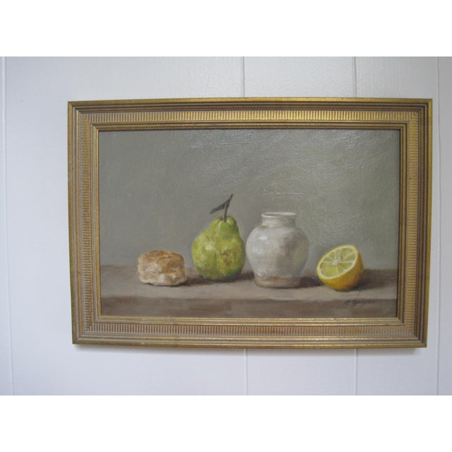 1950s Still Life Oil Painting For Sale - Image 5 of 5