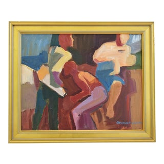 Modern Ray Cuevas, Plein Air Oil Painting of Young Men For Sale