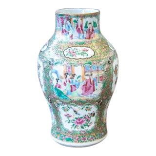C. 1880s Chinese Rose Mandarin Vase For Sale