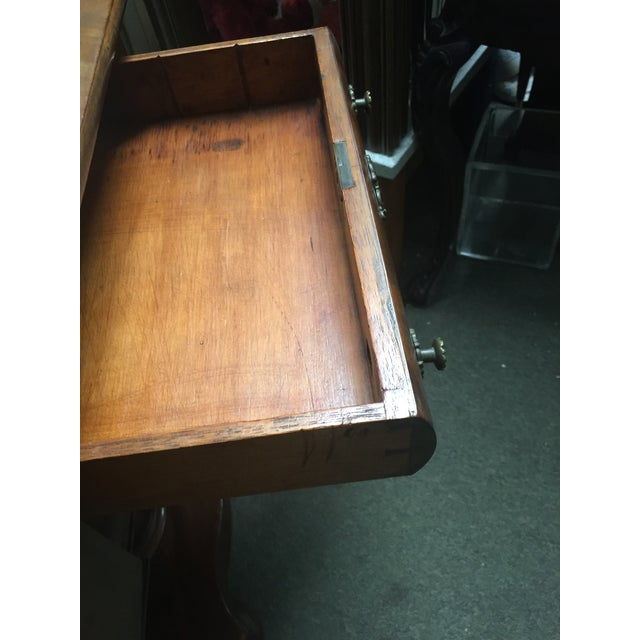 Antique Mahogany Empire Work Table For Sale - Image 4 of 11