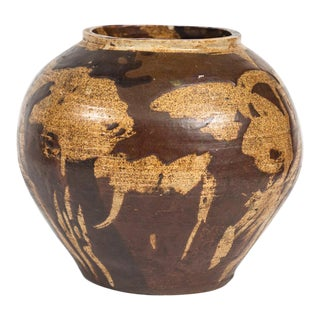 Early 20th Century Ceramic Pot For Sale