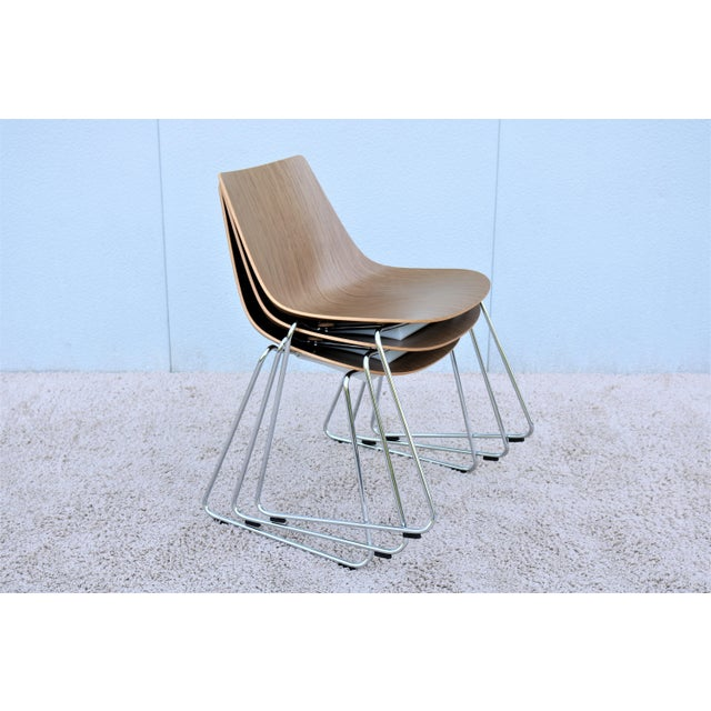 Mid-Century Modern Style Allermuir Curve Dining or Stacking Side Chairs- Set of 6 For Sale - Image 11 of 13