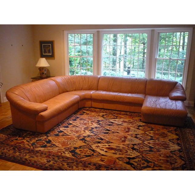Sarlotti Natuzzi Leather Sectional Sofa - Image 2 of 7